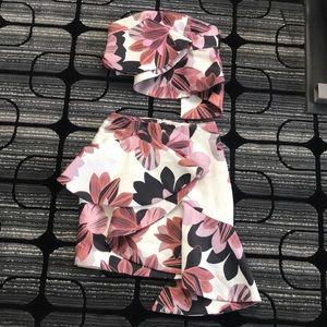 Ruffle skirt with matching tube top